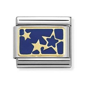 Plate, Sterne Hintergrund BLAU