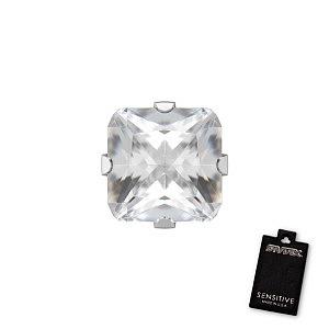 Tiffany Cubic Zirconia, weiss, 5x5 mm Princess Cut