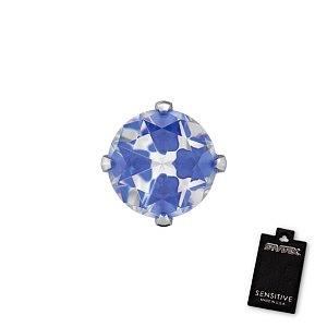 Tiffany Cubic Zirconia Neon Blau, weiss, 5 mm, Stein 4 mm