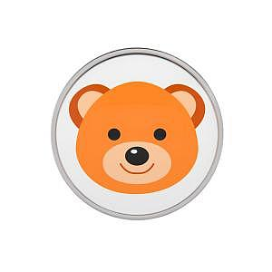 Teddy Bär, weiss, 8 mm