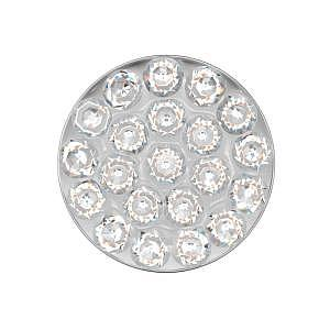 Disc Kristall, weiss, 8 mm