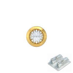 Bezel mit Kristall, vergoldet, 4 mm, Stein 3 mm