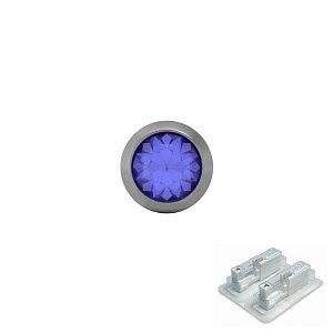 Titan Bezel mit Saphir, Titan weiss, 4 mm, Stein 3 mm