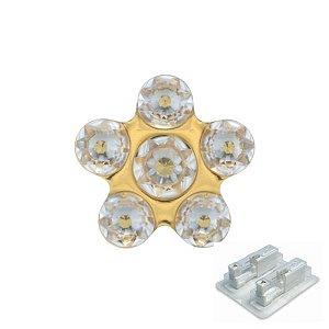 Daisy Kristall, vergoldet, 5 mm