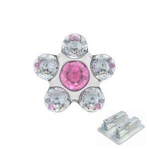 Daisy Kristall-Rosé, weiss, 5 mm