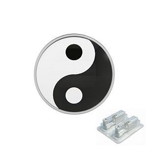 Ying Yang, weiss, 5 mm