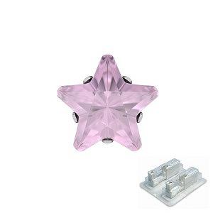 Tiffany mit Stern pink, weiss, 5 mm