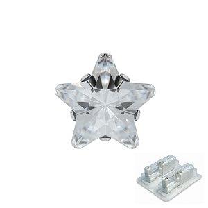 Tiffany mit Stern, weiss, 5 mm