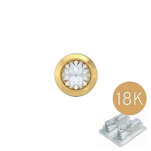 Bezel mit Kristall, 18K Gelbgold, 4 mm, Stein 3 mm