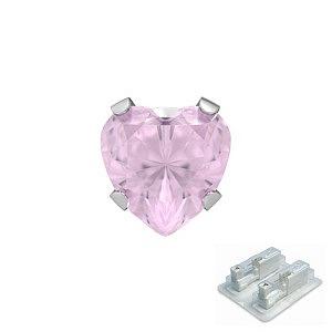 Tiffany mit Herz pink, weiss, 5 mm