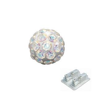Fireball irisierender Kristall, weiss, 4.5 mm