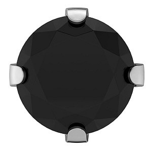 Tiffany Cubic Zirconia schwarz, weiss, 6 mm, Stein 5 mm
