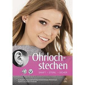 Poster A1, Ohrlochstechen ohne Schmerz, Deutsch