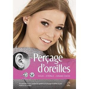 Poster A1, Perçage d'oreilles sans douleurs, Französisch