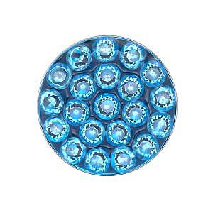 Disc Aquamarine, weiss, 8 mm