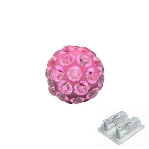 Fireball Rosa, weiss, 4.5 mm